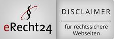 Siegel eRecht24 Disclaimer